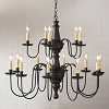 Harrison Two Tier Wooden Chandelier in Black