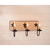 Three Arm Vanity Light w/Stars in Sturbridge White