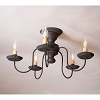 Thorndale Ceiling Light in Hartford Black over Red