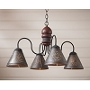 Cambridge Wooden Chandelier in Americana Red
