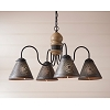 Cambridge Wooden Chandelier in Americana Pearwood