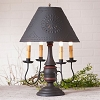 Jamestown Lamp Base in Hartford Black with Red Stripe