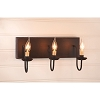 Three Arm Vanity Light in Sturbridge Black with Red