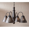 Crestwood Wooden Chandelier in Americana Black