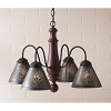Crestwood Wooden Chandelier in Americana Red