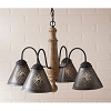 Crestwood Wooden Chandelier in Americana Pearwood