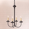4-Arm Rustic Chandelier in Textured Black