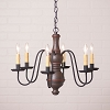 Medium Chesterfield Wooden Chandelier in Americana Espresso
