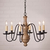 Medium Chesterfield Wooden Chandelier in Americana Pearwood