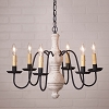 Medium Chesterfield Wooden Chandelier in Americana White