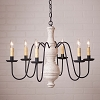 Large Chesterfield Chandelier in Americana White