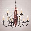 Fairfield Wooden Chandelier in Americana Red