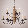 Fairfield Wooden Chandelier in Americana Pearwood