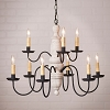 Fairfield Wooden Chandelier in Americana White