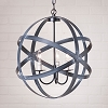 18-Inch Strap Sphere Chandelier in Black