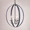 20-Inch Oval Sphere Chandelier in Black