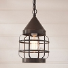 Round Hanging Strap Light in Kettle Black