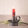 Cottage Chamberstick Electric Candle Accent Light in Blackened Tin