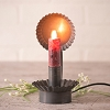 Lodge Chamberstick Electric Candle Accent Light in Blackened Tin