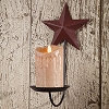 Burgundy Star Pillar Sconce