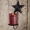 Black Star Pillar Sconce