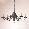 Concord Tin Chandelier in Kettle Black