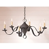 Public House Tin Chandelier in Blackened Tin
