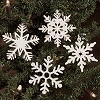 Wood Snowflake Ornaments Set/24