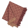 Marshfield Jacquard Woven Afghan Barn Red