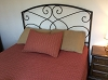 PACKSVILLE ROSE KING BED COVER CRANBERRY/TAN