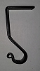 Wrought Iron Mantle Hook Small