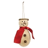 Cozy Scarf Snowman Ornament