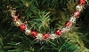 Red & Gold Bead & Tinsel Garland