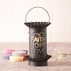 Mini Wax Warmer with Vert. Faith Hope Love in Kettle Black