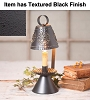 Colonial Accent Light in Textured Black