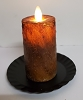Realistic Moving Flame Mini Pillar Brown