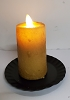 Realistic Moving Flame Mini Pillar Burnt Ivory