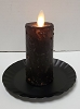 Realistic Moving Flame Votive Black