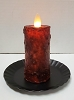 Realistic Moving Flame Votive Burgundy