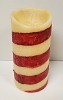 Moving Flame Flicker Pillar Candy Cane 7