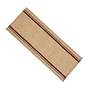 Burlap Stripe Table Runner Barn Red-Wheat