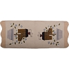 Saltbox and Flowers Table Runner Cream