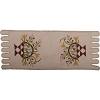 Flower Basket Table Runner Cream