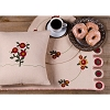 Flower Go Round Nutmeg Table Runner