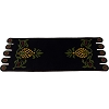 Home Sweet Home Pineapple Black Table Runner