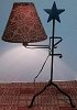 Wrought Iron Star Table Light