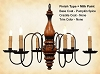 Anderson Wooden Chandelier in Pumpkin Spice