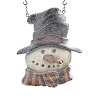Resin Glitter Snowman in Top Hat Arrow Replacement