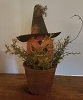 Large Jack-O-Lantern Gourd with Witch Hat
