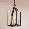 Four Light Saddle Light in Kettle Black